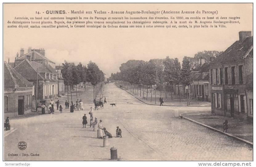 MARCHE AUX VACHES AVENUE AUGUSTE BOULANGER GUINES FRANCE (F3960) - Guines