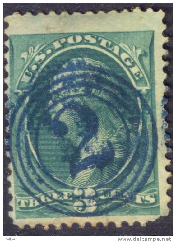 _Us784: Three Cents WASHINGTON Green: Nice Cancellation : 2 In Circles.... Short Corner... - Usati