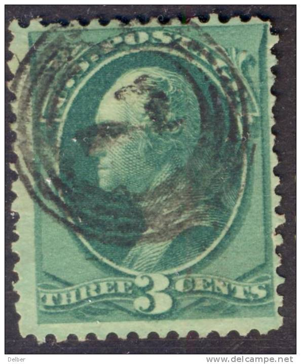 _Us783: Three Cents WASHINGTON: Green: Nice Cancellation : 7 In Circles.... - 1847-99 Emissioni Generali