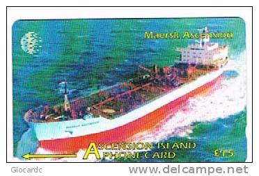 ASCENSION ISLAND   -  GPT   - 1998  MAERSK ASCENSION: SHIP     COD. 268CASB       - USATA° (USED)   -  RIF. 994 - Ascension (Insel)