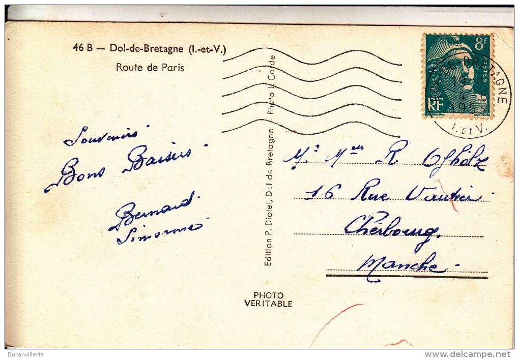 35 - Le VIVIER Sur MER. Route De Paris. Ed. P. Diotel, Dol-de-Bretagne - Photo J. Carde. - France