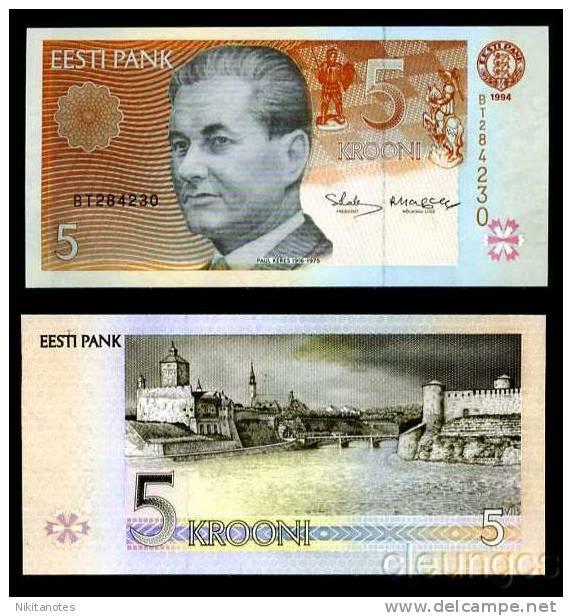 Estonia 5 Krooni 1994 P 76 Unc - Estonia