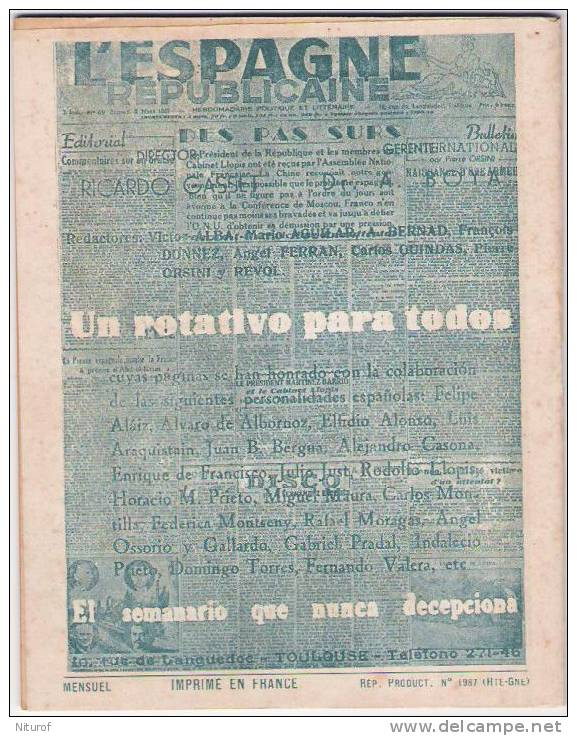 FERNANDZ ESCOBES : LA OTRA - LEE Toulouse-LA NOVELA ESPANOLA 1948- - Littérature