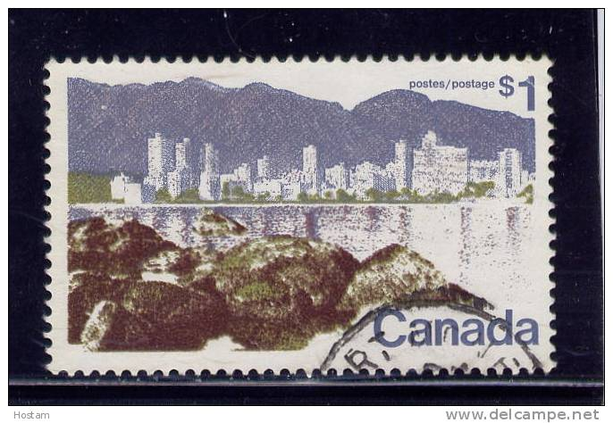 CANADA 1973, USED # 599,LANDSCAPE DEFINITIVE: VANCOUVER  USED - 1952-.... Règne D'Elizabeth II