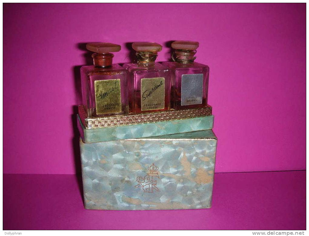 coffret miniatures de parfum ancien fragonard grasse. Black Bedroom Furniture Sets. Home Design Ideas