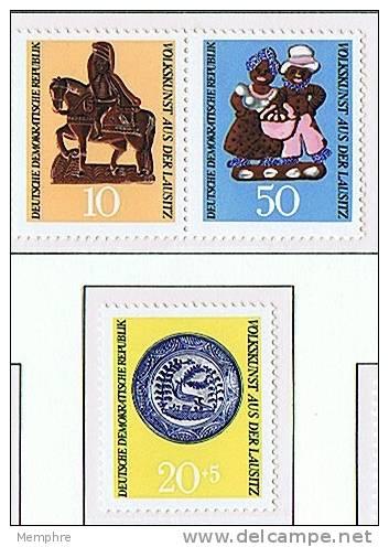 1969   Handicrafts  Mi Nr 1521-3  **  MNH - DDR