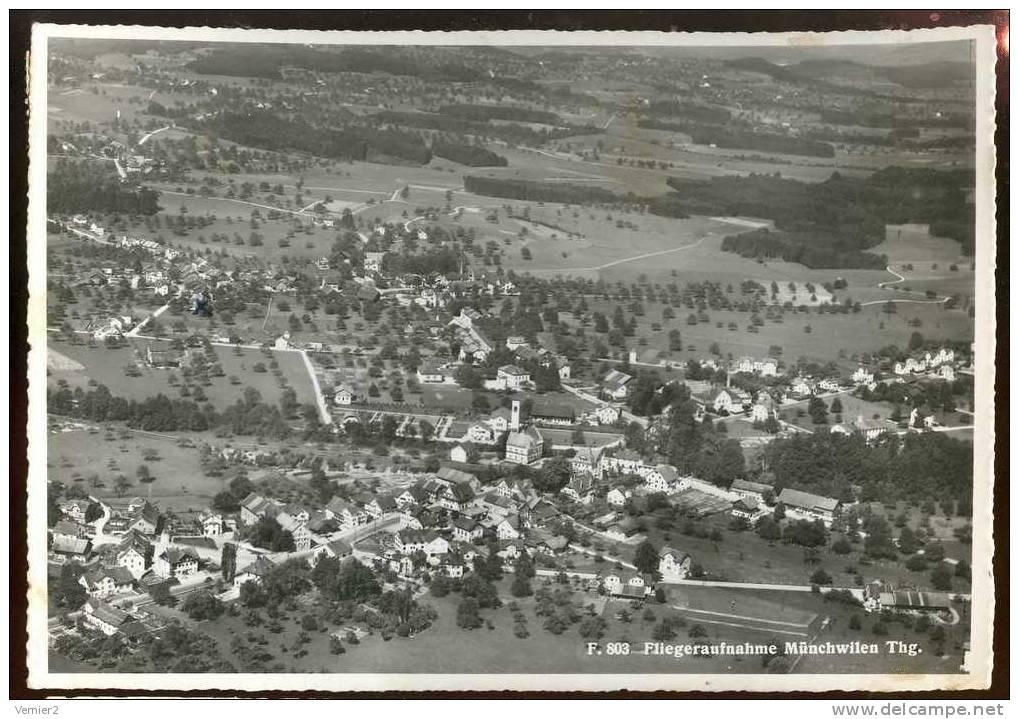 Fliegeraufnahme Münchwilen Thurgau - Obl. à Münchwilen Le 03.01.1956 - TG Thurgovie
