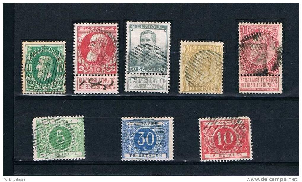 Belgique Timbres 1869 Lot De 8 Timbres Avec Dsl Rurales TB Et RARE - 1869-1883 Léopold II