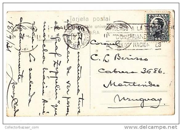 SPAIN ESPAÑA CAVA SAN VICENTE AT MALLORCA - REPORTING A ZEPPELING SIGHT TO BERISSO,  AN AVIATOR  VINTAGE POSTCARD WIN389 - Albania