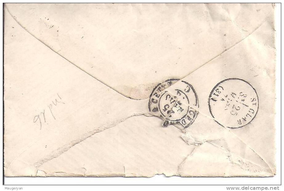 LETTRE -N° 60 Obl.  AMBULANT - LAR P   Cachet  La  Rochelle à Paris - Marcophilie (Lettres)