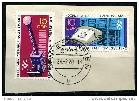 A0208) DDR Michel 1551-1552 - Oo Gestempelt Auf Papier - Leipziger Frühjahrsmesse - 0,70 Mi€ - [6] République Démocratique
