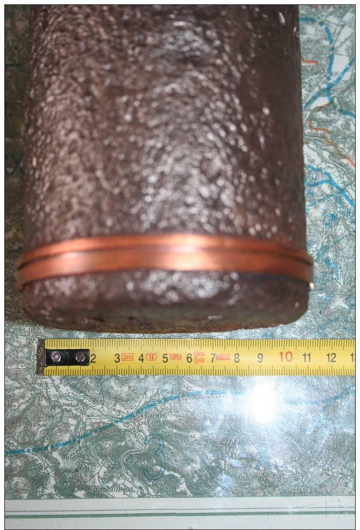 Austrian KuK IWW 10cm Schrapnel Projectile / Shell M99  With Fuse- RELIC From Battlefield - INERT - 1914-18