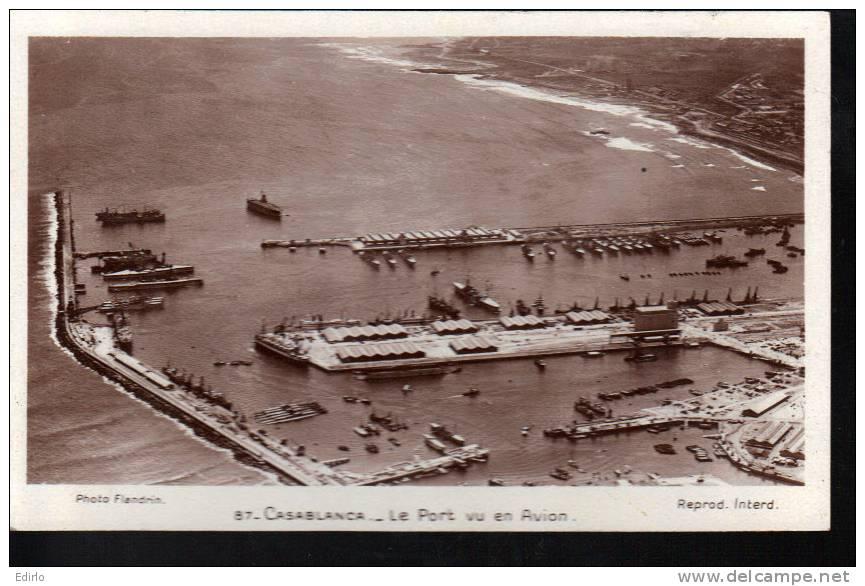 MAROC - Casablanca Le Port Vu D'Avion  - Neuve Excellent état - Casablanca