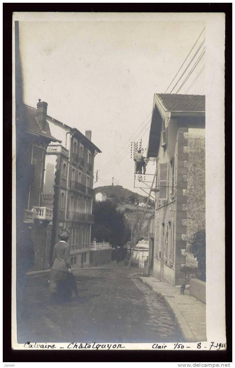 Cpa Carte Photo Du 63  Chatelguyon Calvaire8-7-1924  ABE56 - Châtel-Guyon