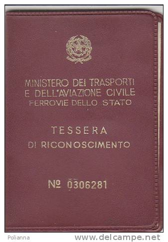 PO6627A# TESSERA MINIST.TRASPORTI E AVIAZIONE CIVILE - FERROVIE DELLO STATO 1972 - Week-en Maandabonnementen