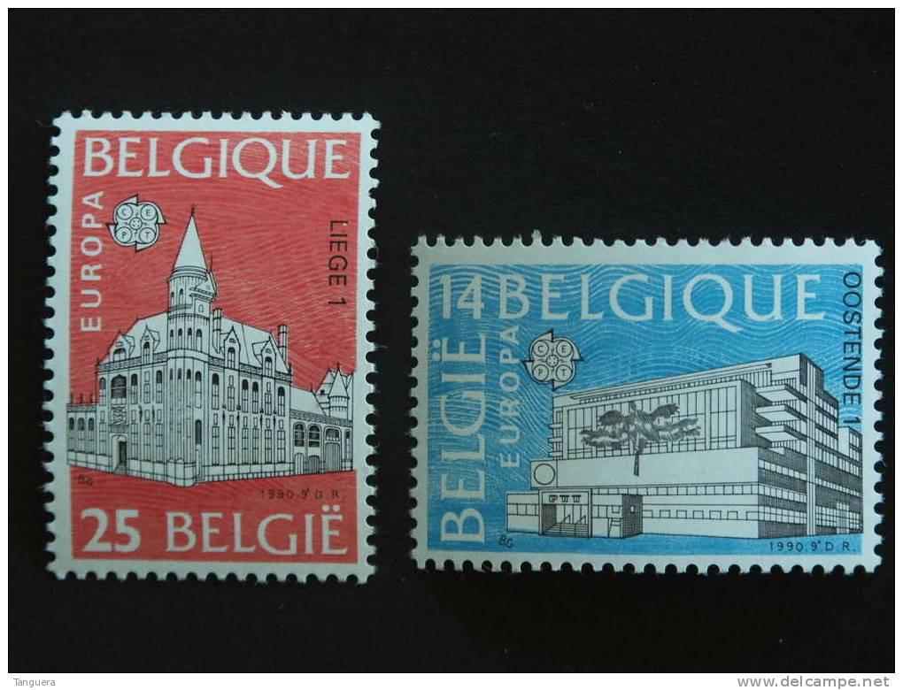 België Belgique 1990 Europa-CEPT Postgebouwen Edifices Postaux Yv COB 2367-2368 MNH ** - Belgium