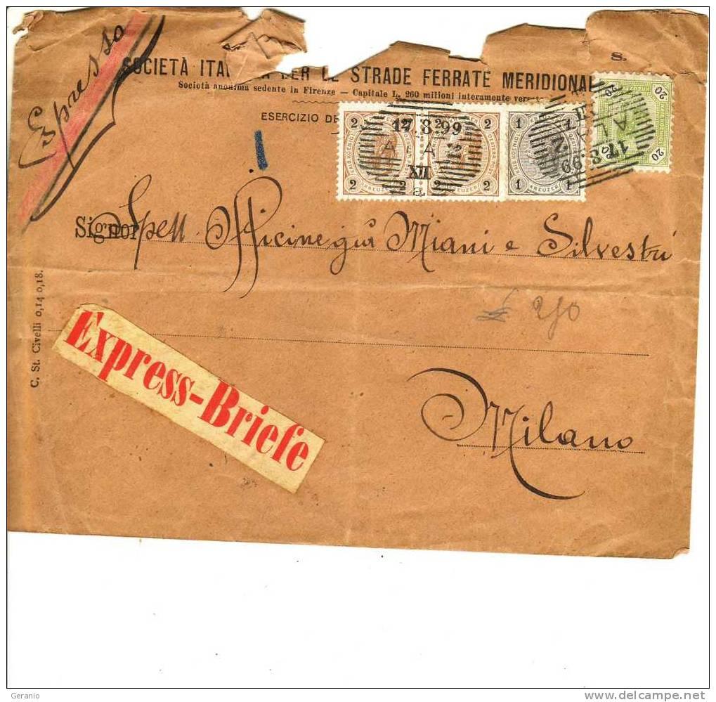 STORIA POSTALE ESPPRESSO  1899 - 1850-1918 Impero