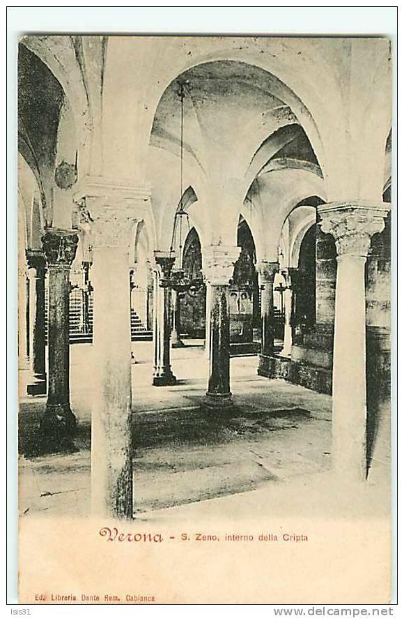 Italie - Veneto - Venetie - Verone - Verona - S. Zeno, Interno Della Cripta - état - Verona