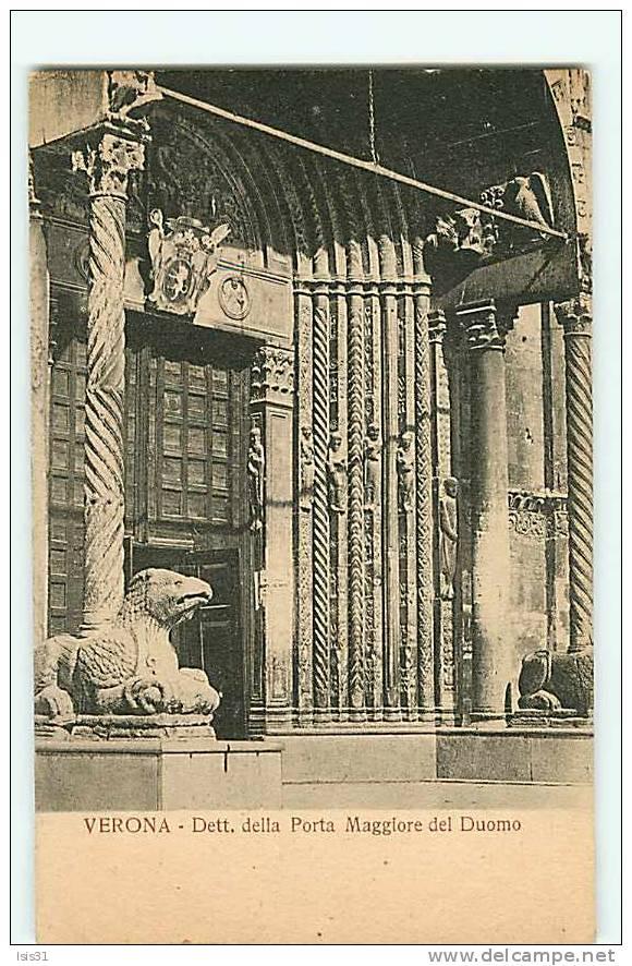 Italie - Veneto - Venetie - Verone - Verona - Dett. Della Porta Maggiore Del Duomo - Bon état Général - Verona