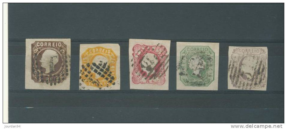 PORTUGAL                        - N°    13    à  17 - 1853 : D.Maria