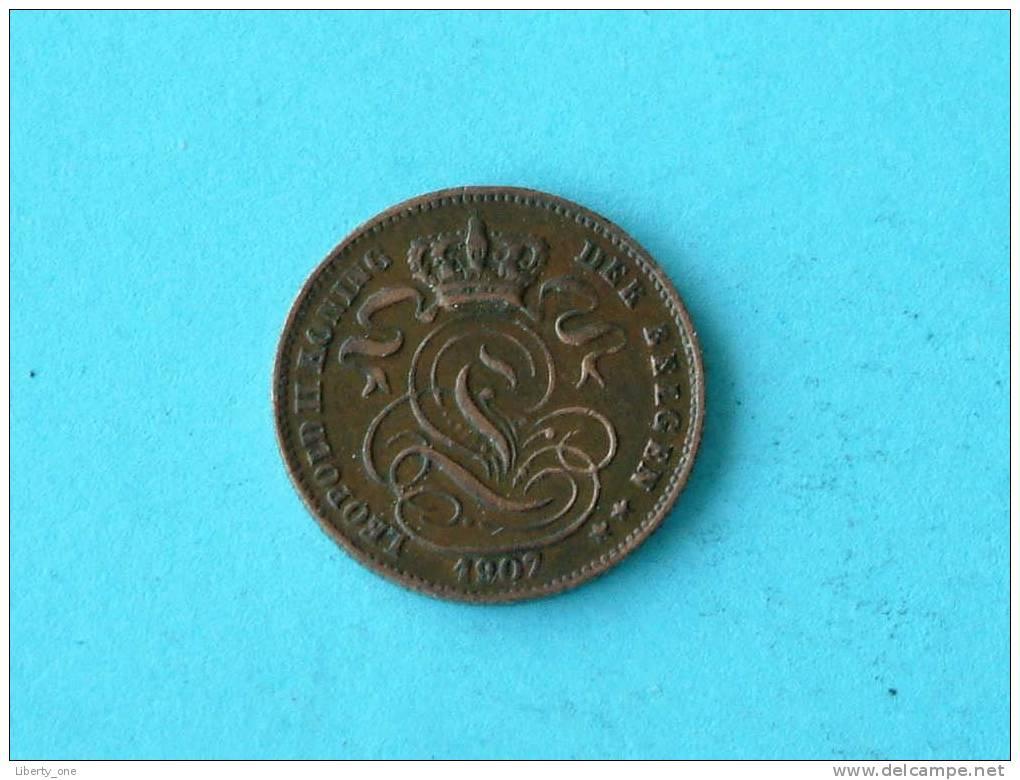 1907 VL - 1 CENT ( Morin 235 ) / ( For Grade, Please See Photo ) !! - 1865-1909: Leopold II