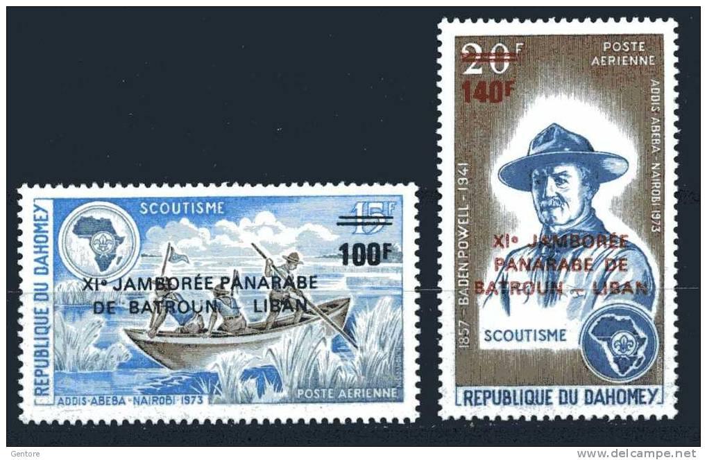 1974 DAHOMEY Jamboree Panarabe Cpl Set Of 2 Yvert Cat N° Air 213/14 Perfect MNH** - Unclassified