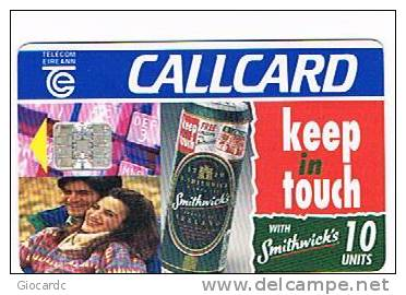 IRLANDA (IRELAND) - TELECOM EIREANN CHIP  - 1995 SMITHWICK'S BEER    - USED - RIF. 7885 - Irlanda