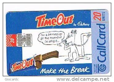 IRLANDA (IRELAND) - TELECOM EIREANN CHIP  - 1998  CADBURY'S TIME OUT     - USED - RIF. 7905 - Irlanda