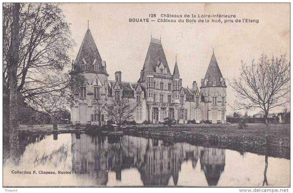 ¤¤  -  128   -   BOUAYE   -  Château Du Bois De La Noë , Pris De L'étang     -  ¤¤ - Bouaye