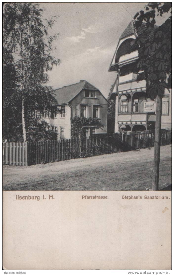 ♥◆  ILSENBURG I H  PFARRSTRASSE STEPHAN'S SANATORIUM VERLAG CARL KURRE 1909 - Ilsenburg