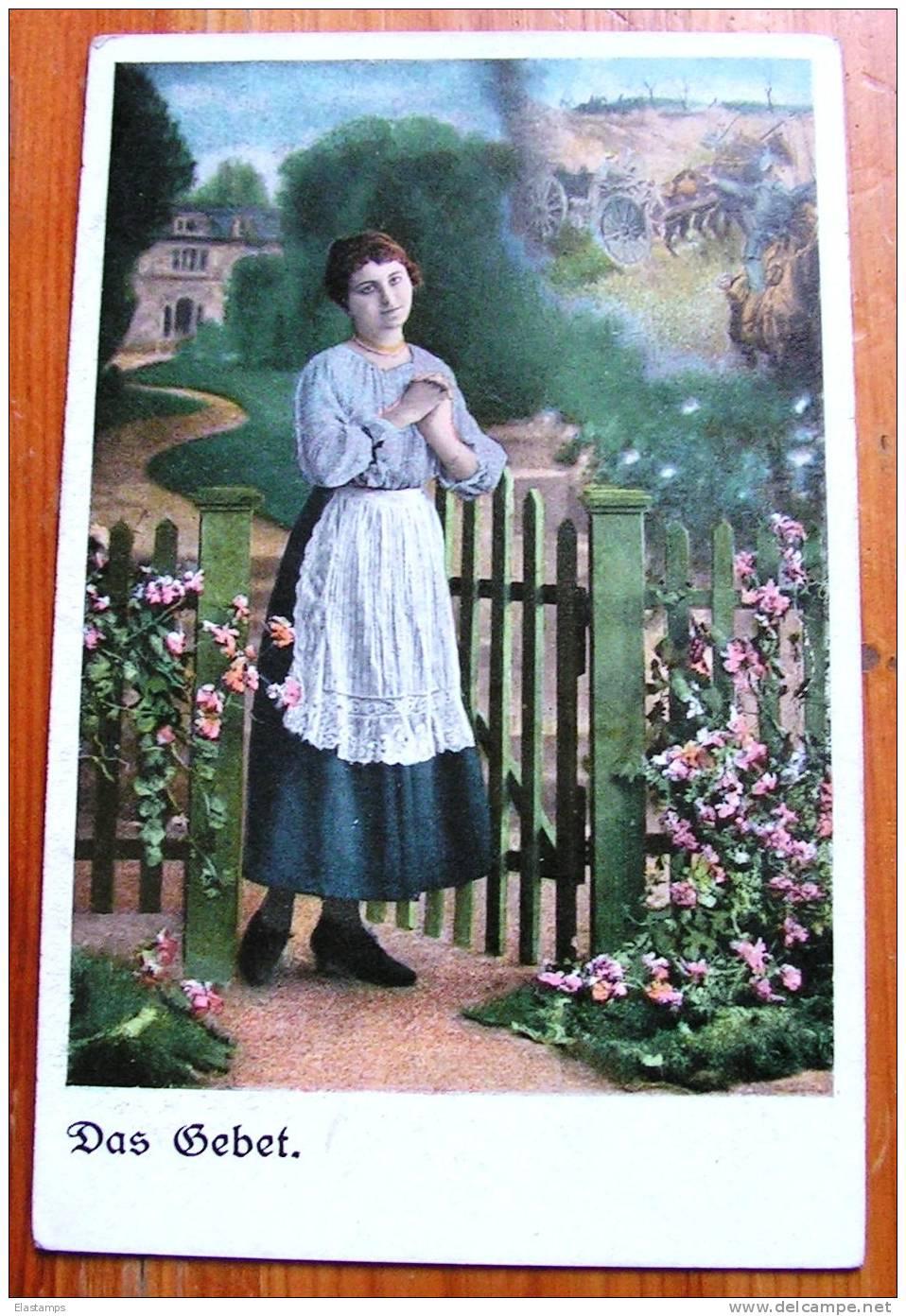 == Das Gebet , Frau  - Bäuerin Serien Karte - Bauernhöfe