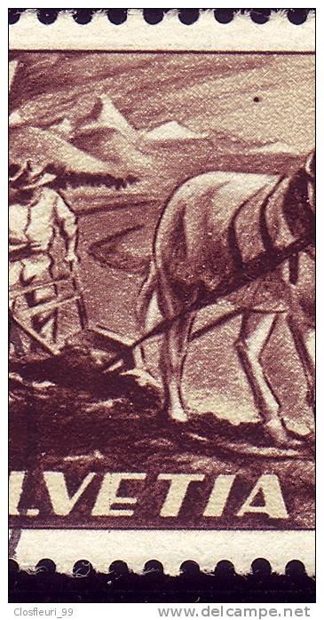N° 252 / Bauer, Pferd, Pflug / Paysan Et Charrue / Deux(2) Variétés, Abarten - Variétés