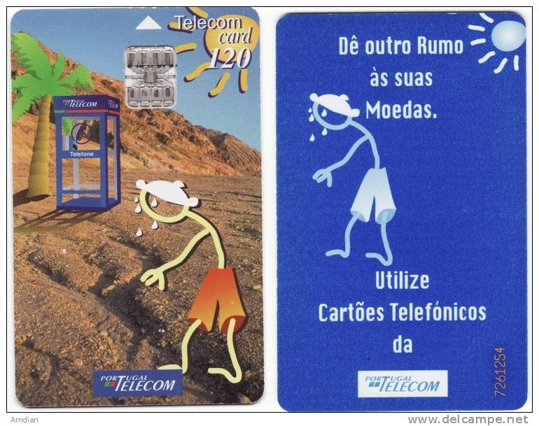 PORTUGAL Phonecard / Telecarte -Portugal Telecom 120 Units - Heatwave - Portugal