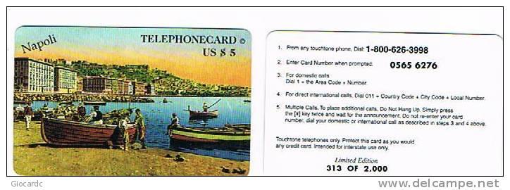 STATI UNITI (USA) - (REMOTE) TELEPHONECARD $ 5 NAPOLI : GOLFO  (TIR. 2000) - USED  -  RIF.1168 - Sin Clasificación