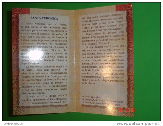 S.VERONICA Asciuga Il VOLTO Di GESU´- Santino Nuovo- 73 Bio 51-FB - Images Religieuses