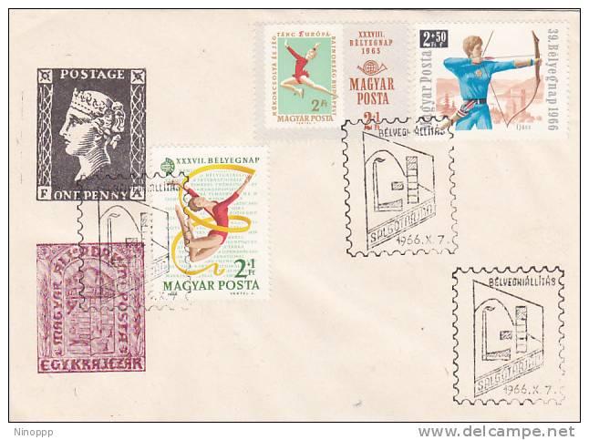 Hungary 1966 Sport Souvenir Cover - Hungary