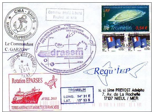 TAAF ILES EPARSES  TROMELIN - Rotation éparses Avril 2011 DRASSM - Non Classificati