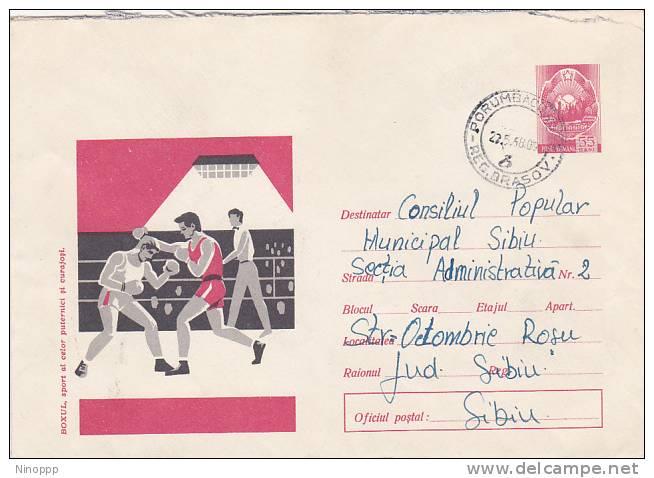 Romania 1968 Sports Boxing , Addressed Cover - 1948-.... Republics