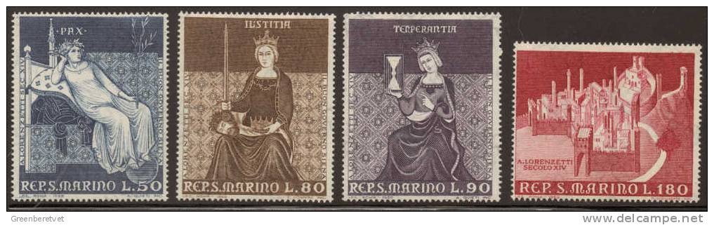 San Marino Scott # 695-698 Mi 921-924 Yt 728-731 Sass Sassone 773-776 ** 1969 Set MNH - Unused Stamps