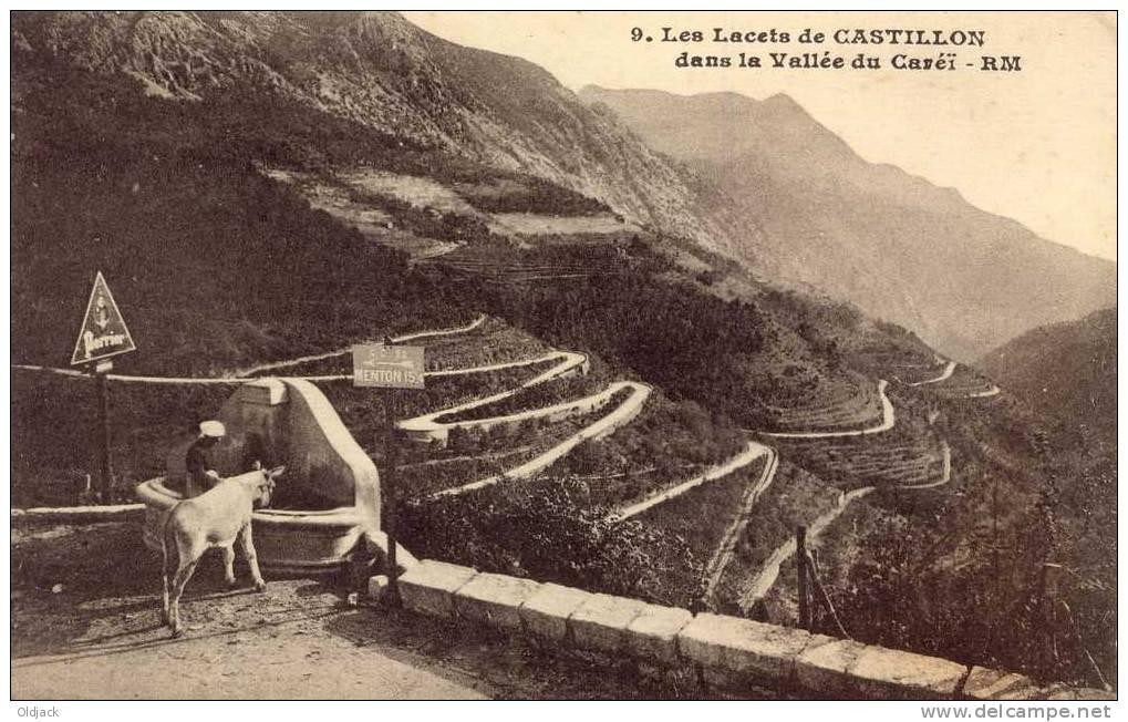 Les Lacets De Castillon Dans La Vallée Du Caréï - France