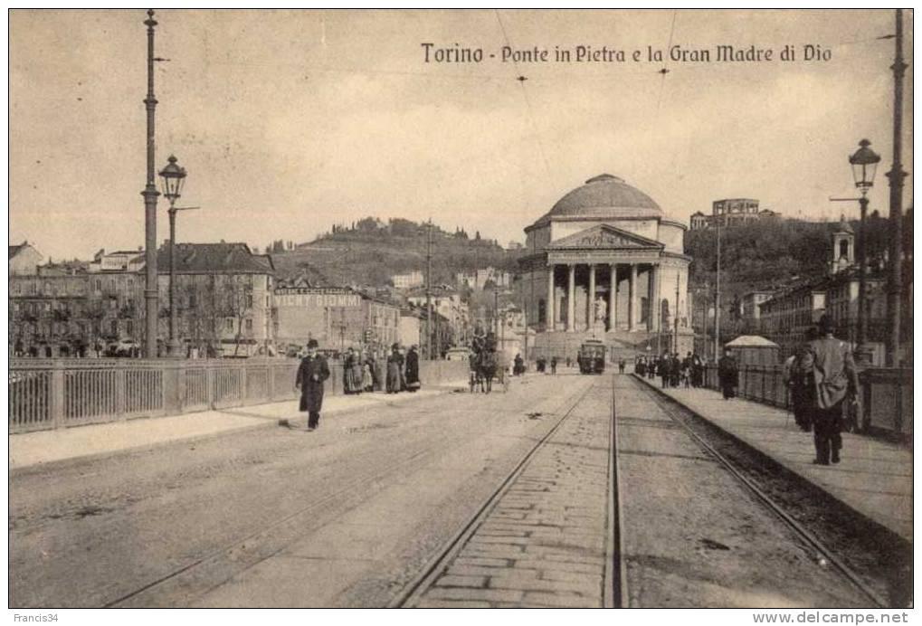 CPA - Torino - Ponte In Pietra E La Gran Madre Di Dio - Italie