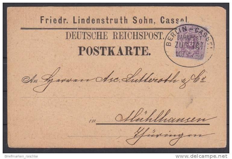 Bahnpost Auf Schöner Reichspostkarte (2154)  Preis Wurde Reduziert !! - Allemagne