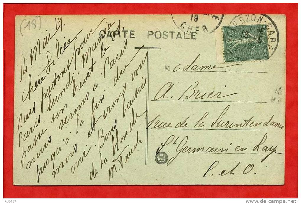 * BOURGES-Cathédrale St-Etienne-Vue De L´Abside Et De La Tour Du Beurre(timbre Bas De Planche)-1919 - Bourges