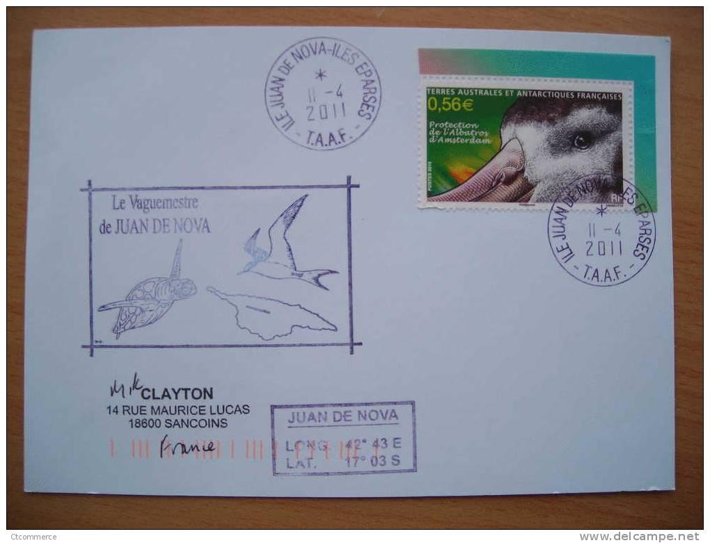 2011 TAAF Ile Juan De Nova Iles Eparses - Storia Postale