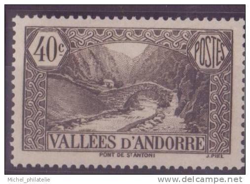 ANDORRE N° 62** NEUF SANS CHARNIERE - Andorre Français