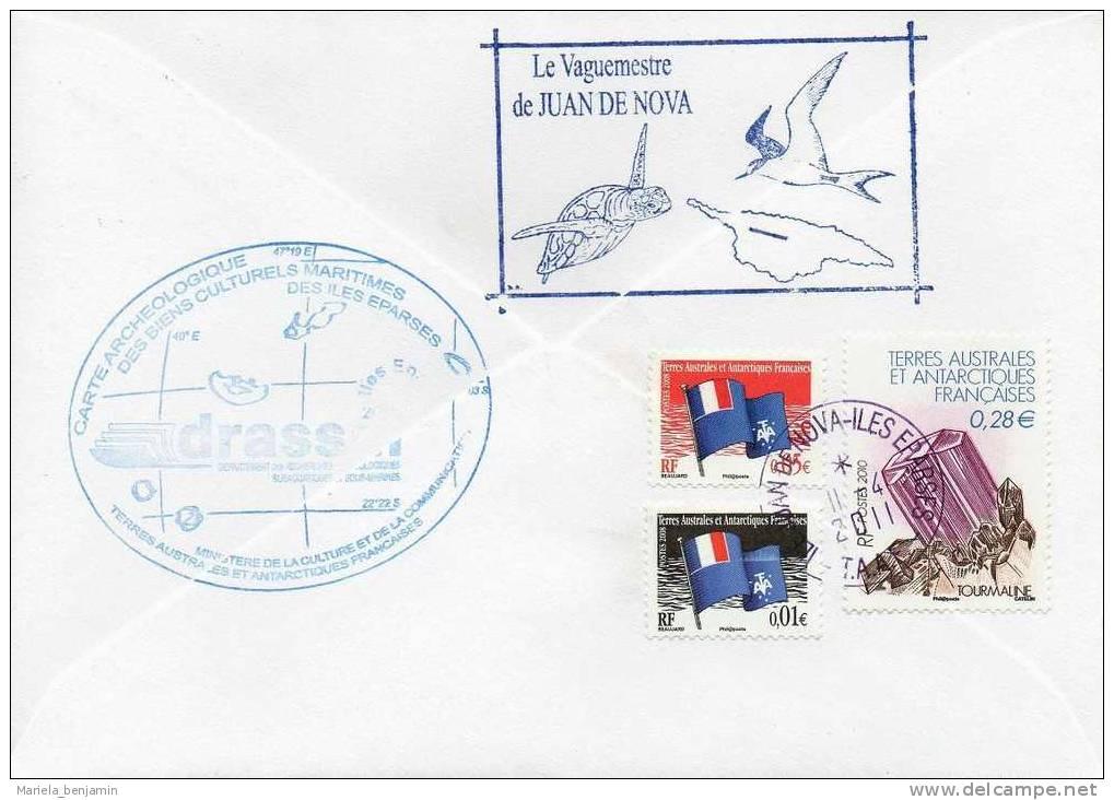 Iles Eparses - Passage Marion-Dufresne à 'Bassas Da India' - Oblit Juan De Nova 11/04/11 - Covers & Documents