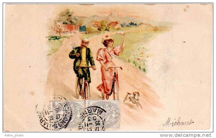 Cpa, Sport, Vélo, Dessinée (SPO) - Cyclisme