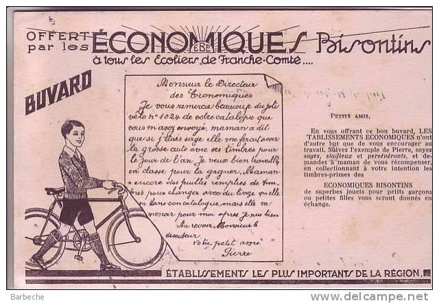BUVARD  Offert Par Les ECONOMIQUES BISONTINS  à Tous Les Ecoliers De Franche-Comté - Buvards, Protège-cahiers Illustrés