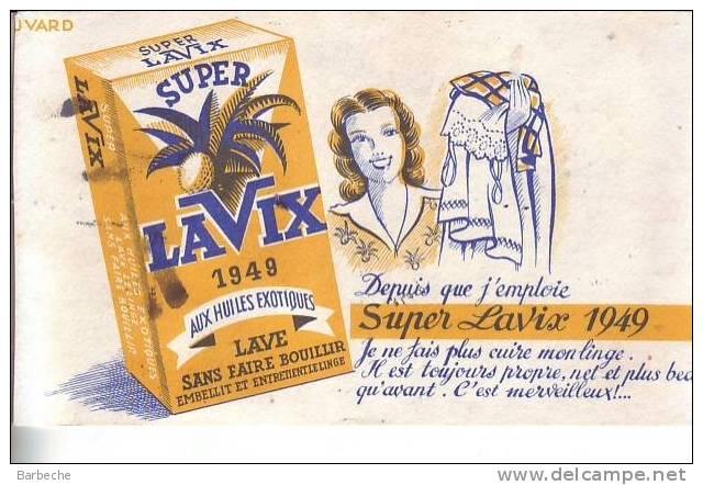 SUPER LAVIX 1949 Aux Huiles Exotiques - Buvards, Protège-cahiers Illustrés