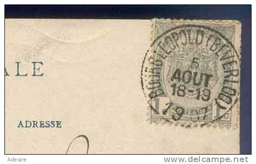 BOURG LEOPOLD, La Station, Gelaufen 1907 - België